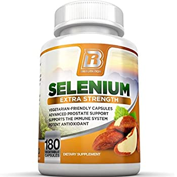 BRI Nutrition Selenium 180ct 200mcg Vegetable Formula - Essential Trace Mineral to Support Thyroid, Prostate and Heart Health* - Yeast Free - Made in the USA