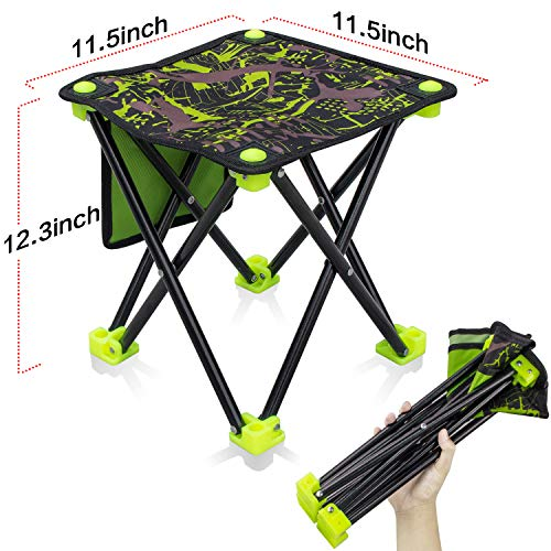 Small Folding Stool Portable, Mini Step Slacker Stool Camping Folding Chairs Outdoor, Collapsible Camp Stool, Perfect for Fishing Camp Traveling Hiking Beach Garden BBQ Lightwight Waterproof Stool