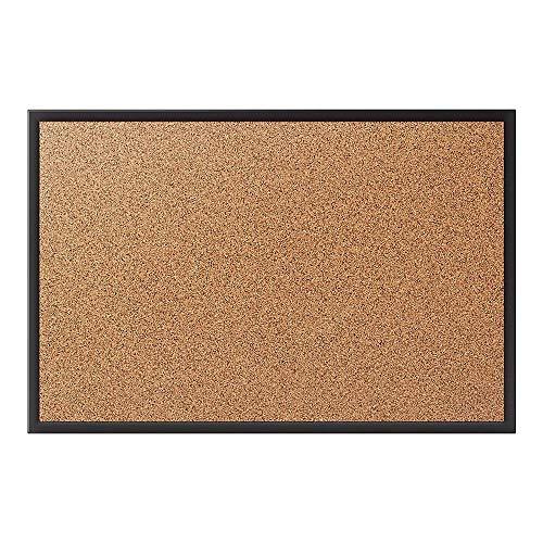- Staples 1798335 Standard Cork Bulletin Board Black Aluminum Frame 2'W x 1.5'H