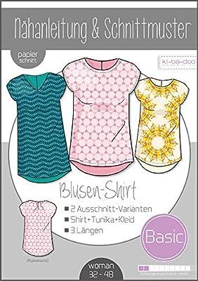 Kibadoo - Patrón de costura para blusa básica de mujer: Amazon.es ...