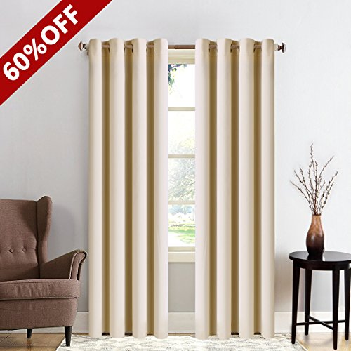 yellow insulated grommet curtains - 8