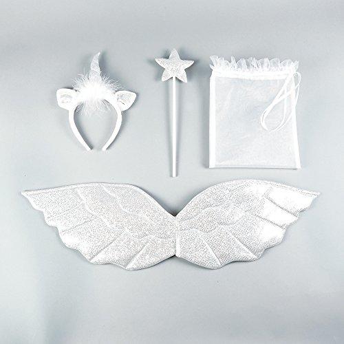 [Unicorn Headband, Wing and Wand Set packed in an Organza Bag] (Child's Unicorn Costume Uk)