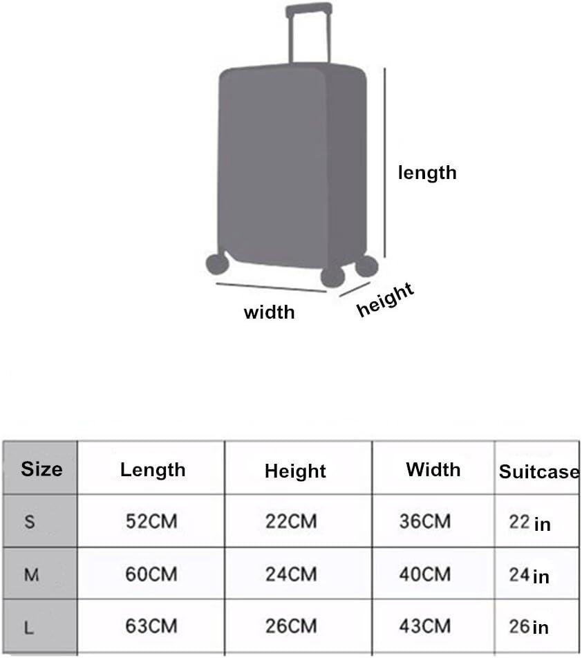 nur Abdeckung, Koffer Nicht enthalten Koffer Schutzhulle,Gepack Protektor Elastische Reisegepack Abdeckung Staubdicht Trolley Schutzhulle passt 18-32 Zoll