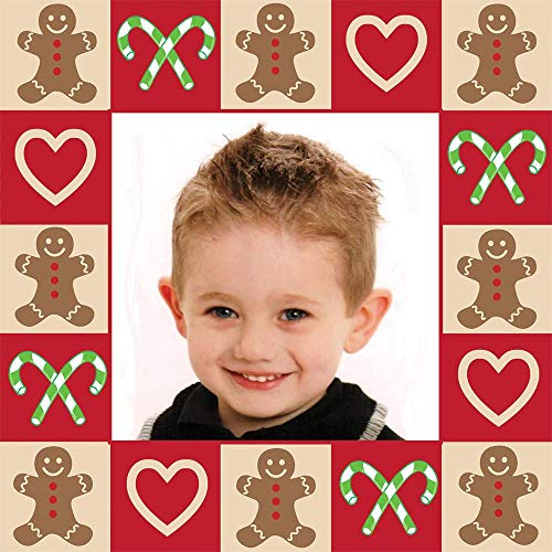 Christmas Custom Gift Wrap | Personalized Photo Gift Wrapping Paper (10 Foot Roll, Gingerbread)