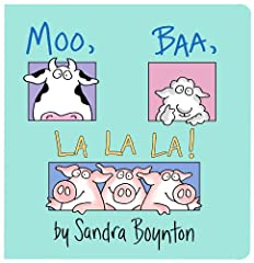 "This raucous story about the sounds animals make—including three pigs who say ""la la la!""—is just right for reading aloud.Serious silliness for all ages. Artist Sandra Boynton is back and better than ever with completely redrawn versions of h..."
