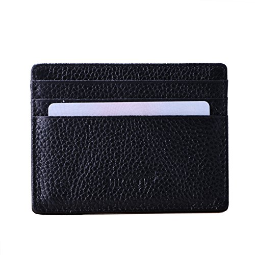 Genuine Leather Slim Credit Card Case Wallet