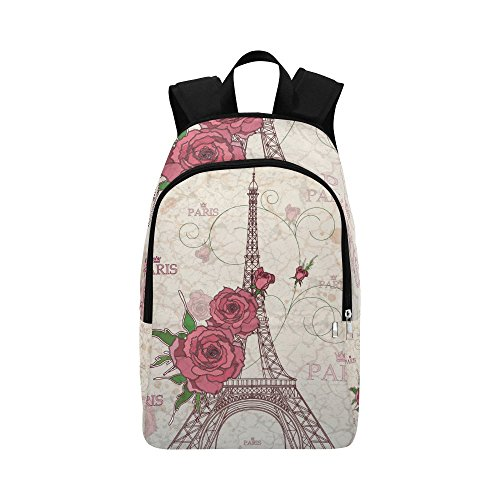 Price comparison product image your-fantasia Paris Eiffel Tower Unisex Casual Daypack Travel Backpack Waterproof Nylon