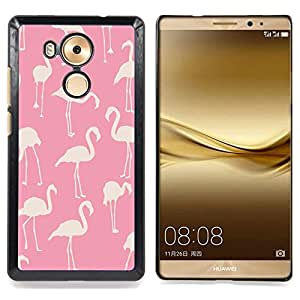 - pink flamingo pattern white bird Florida - - Modelo de la piel protectora de la cubierta del caso FOR Huawei Mate 8 RetroCandy