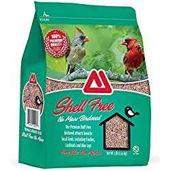 TMF 100% Premium Quality Shell Free No Mess Bird Seed , 5 lb