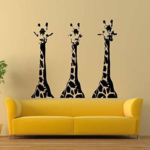 vinyl wall decals giraffe animals jungle safari living room bedroom decal sticker home decor art mural z668