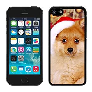 2014 New Style Christmas Cute Dog Black Plastic Iphone 5c,Apple Iphone 5c Cover Case