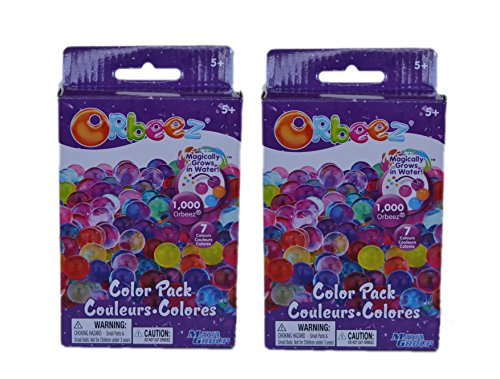 Orbeez Color Multi-Pack -2 Pack Refill Kit - 7 Colors - Incl