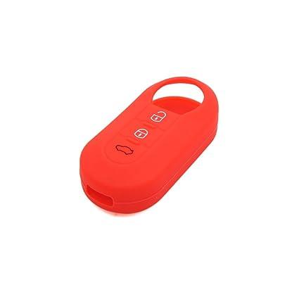 Amazon Com Uxcell Red Silicone Three Button Car Remote Key Cover