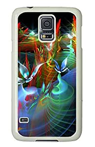 Samsung Galaxy S5 buy cover Flowers Art 3D PC White Custom Samsung Galaxy S5 Case Cover