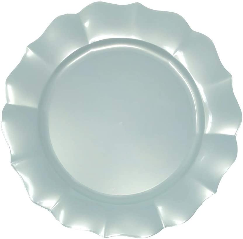 Scallop Collection Pack of 10 10 Pearl Turquoise Plate