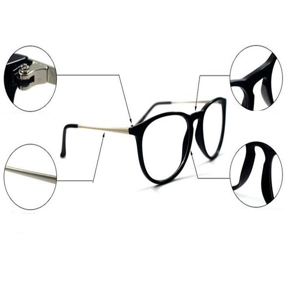 Hzjundasi Gafas Mujer Hombre Sobredimensionado Transparente ...