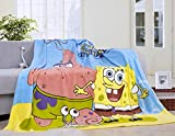 Blaze Children's Cartoon Printing Blanket Coral Fleece Blanket 59 By 79'' (SpongeBob)