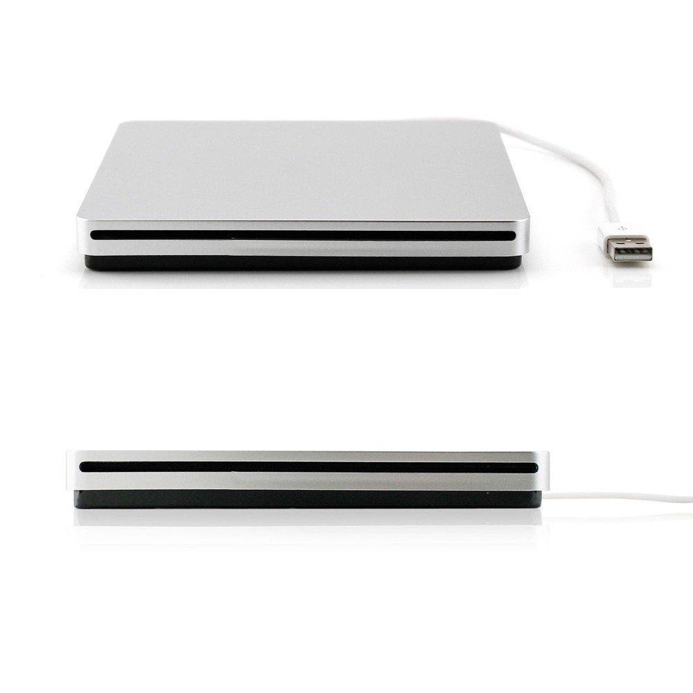 DoHonest ZSMJ External USB Slot DVD VCD CD Driver DVD-RW CD-RW Burner Superdriver for MacBook Air,MacBook Pro (Silver) by DoHonest (Image #1)