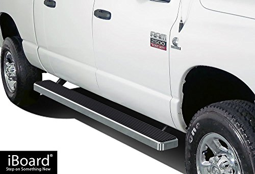 Rail Kit Dodge Ram - APS iBoard (Silver 5 inches) Running Boards | Nerf Bars | Side Steps | Step Rails For 2002-2008 Dodge Ram 1500 Quad Cab & 2003-2009 Ram 2500/3500