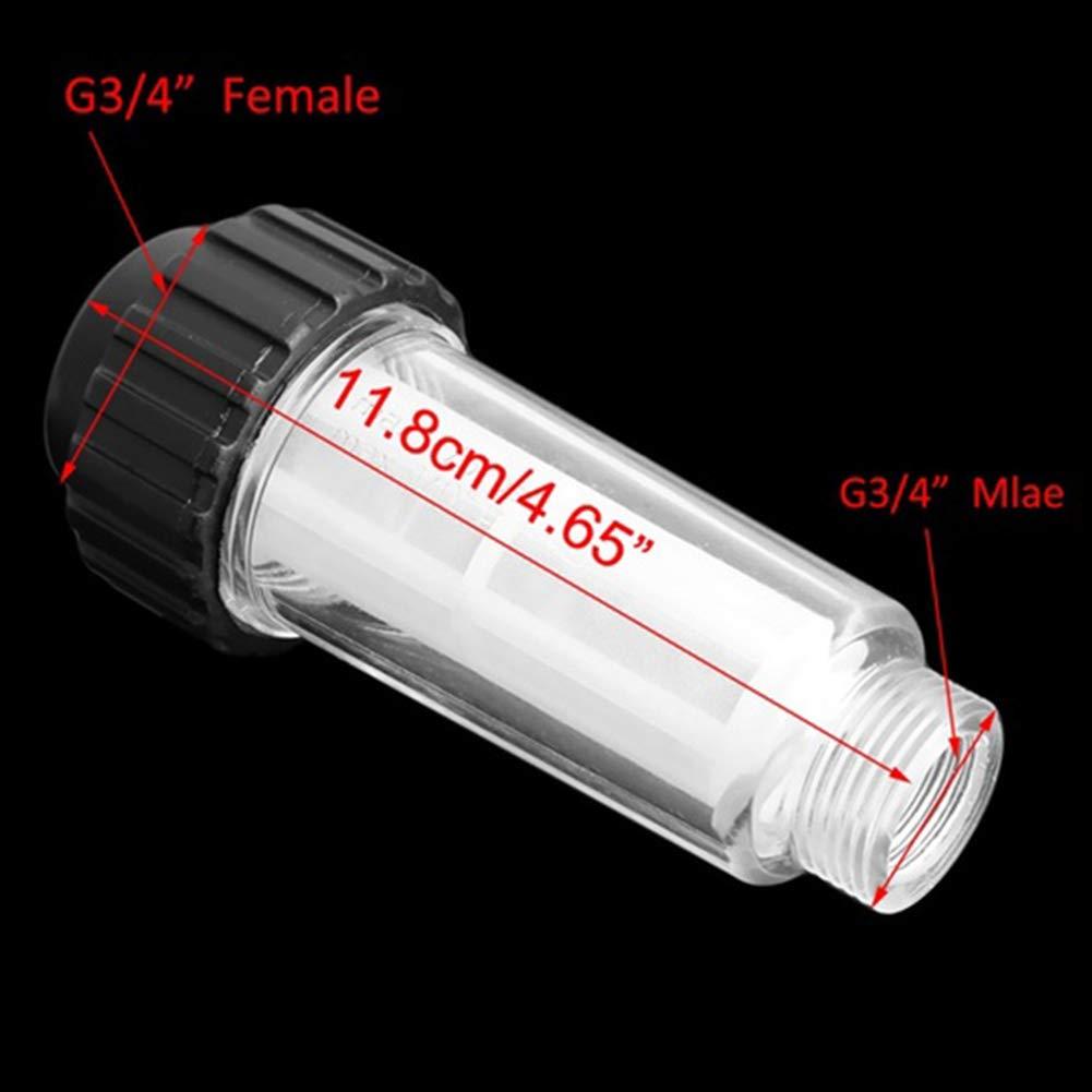 Filtro de agua transparente duradero limpiador de repuesto gh m/áquina de entrada de presi/ón accesorios para el hogar seguridad y pr/áctico lavador de coche para Karcher K2-K7