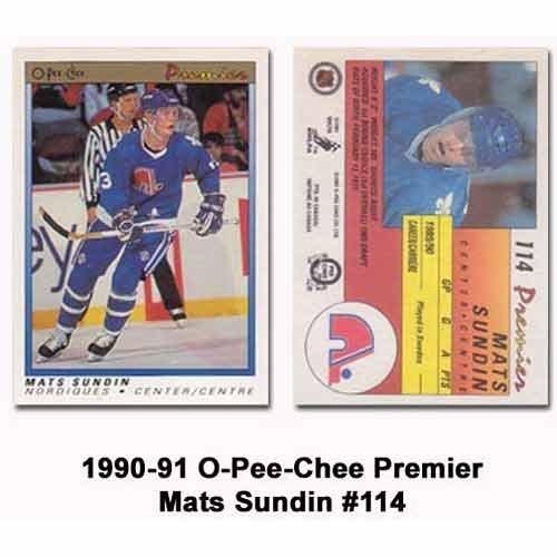 OPC 1990-91 Mats Sundin Rookie Card
