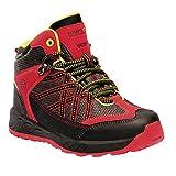 Regatta Unisex Kid's Samaris Mid Junior Walking Boot High Rise Hiking, Red (Pepper/Lime Zest 347), 4 (37 EU)