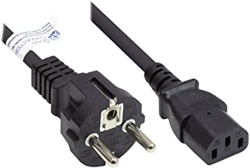Good Connections Netzkabel 1 8 M Schutzkontakt Stecker Typ E F