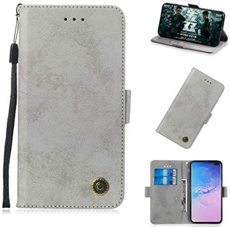 あなたの携帯電話を保護する Galaxy S10 +用のカードスロットとホルダー付きの多機能水平フリップレトロレザーケース (色