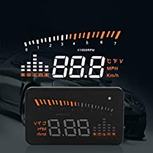 Car Truck OBD II HUD Head Up Display Color LED Projector Speed Warning System
