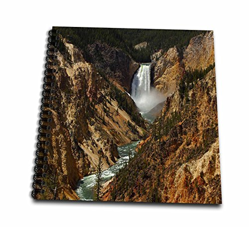 Lower Falls Yellowstone National Park (3dRose db_17296_2 Lower Falls Yellowstone National Park-Memory Book, 12 by 12-Inch)