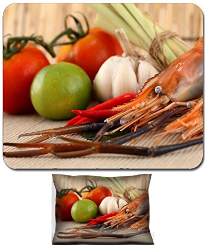 - Luxlady Mouse Wrist Rest and Small Mousepad Set, 2pc Wrist Support design IMAGE: 22782563 Asian herb and spicy with shrimps Tom Yum