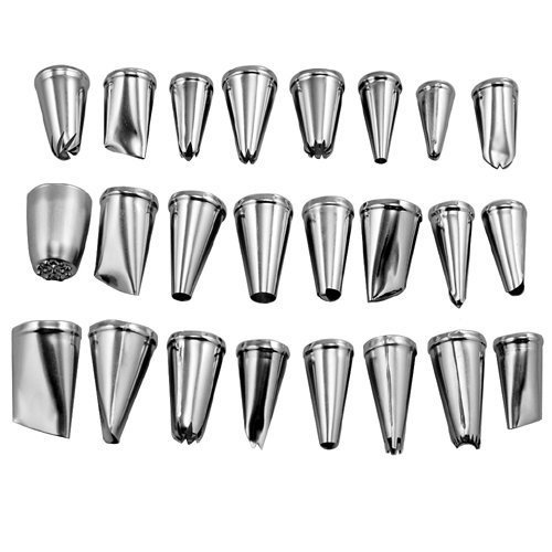 Leegoal 24 Pcs Icing Piping Nozzles Pastry Tips Cake Sugarcraft Decorating Tool
