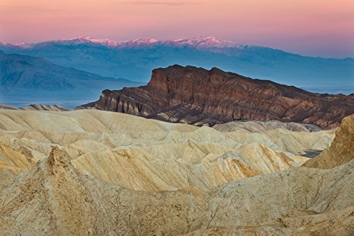 Marshall Point (Zabriskie Point Scrum, Rustic Country California Fine Art Landscape Photograph for Wall Decor Death Valley National Park)