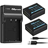 OAproda NP-W126 Battery (2-Pack) and Micro USB Charger for Fujifilm NP-W126S, Fuji X100F, X-H1, X-A5, X-E3, X-E2, X-E1, X-E2S, X-T20, X-T10, X-Pro2, X-Pro1, X-A3, X-A2, X-T2, FinePix HS50EXR, HS35EXR