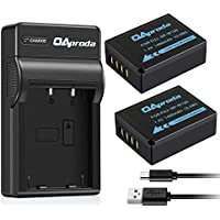 OAproda NP-W126 Battery (2-Pack) and Ultra Slim Micro USB Battery Charger for Fujifilm NPW126 and Fuji FinePix HS30EXR, HS33EXR, HS50EXR, X-A1, X-A3, X-E1, X-E2, X-M1, X-T1, X-T2, X-T10, X-Pro1,X-PRO2