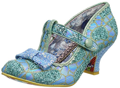 Irregular Choice Lazy River Bleu Gold Femmes Cheville Bar Botte