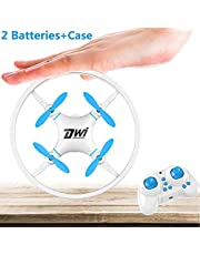 Dwi Dowellin Mini Drone Crash Proof Micro Drones UFO 360 Flips Rolls Altitude Hold Auto Take Off Landing Return RC Quadcopter Toys Gift with Case and 2pcs Batteries for Beginners Kids Children