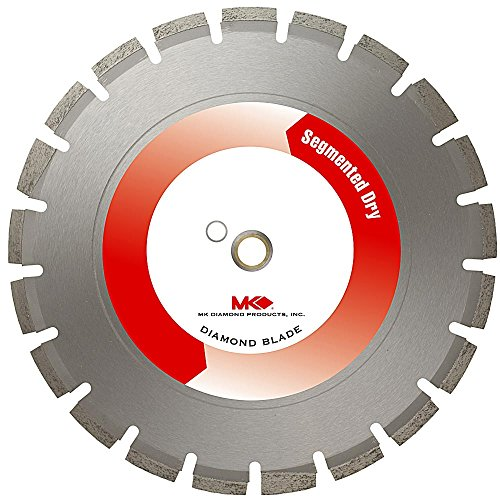 MK Diamond 150618 MK-465D 14-Inch Dry Cutting Segmented Diamond Saw Blade with 1-Inch Arbor for Asphalt and Green Concrete Green Concrete Segmented Diamond