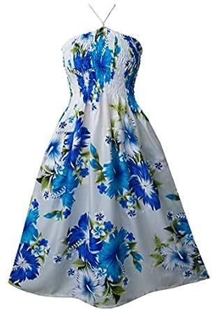Pikulla Halter Smock Women's Bunch Chaba W Gypsy Sundress Blue One Size SML