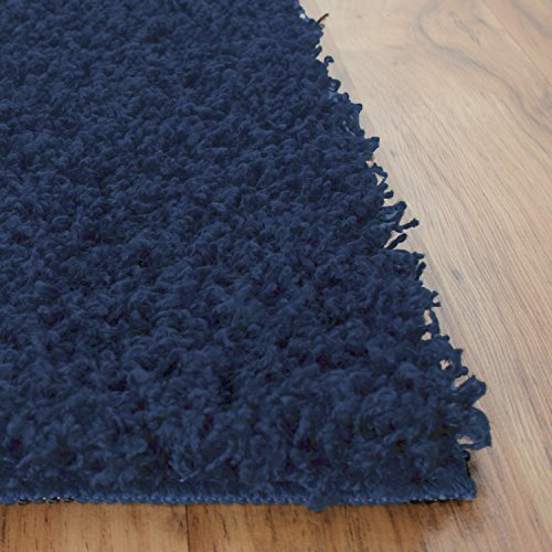 Maples Rugs Kitchen Rugs, [Made in USA][Catriona] 2'6 x 3'10 Non Slip Padded Small Area Rugs for Living Room, Bedroom, and Entryway - Navy Blue