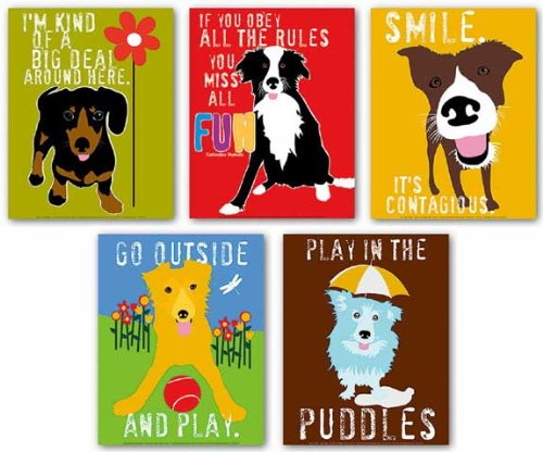 Dog Set (Five Prints) by Ginger Oliphant 11
