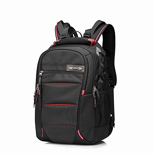 Kissfairy Professional DSLR Camera Laptop Backpack Multifunctional Shoulder Bag (Small, Red) by Kissfairy
