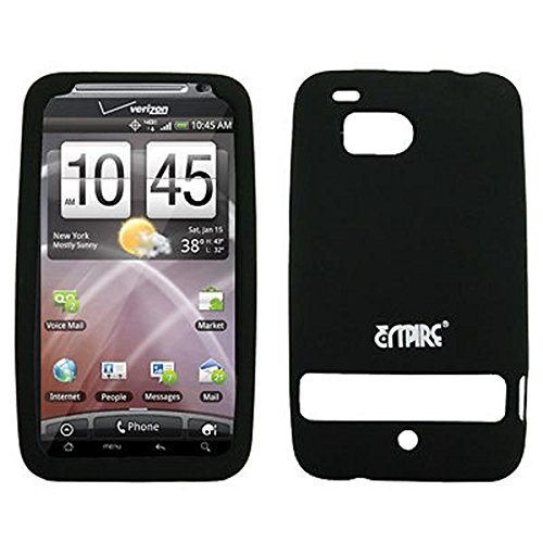 EMPIRE Schwarz Silicone Skin Cover Case Tasche Hülle for Verizon HTC ThunderBolt