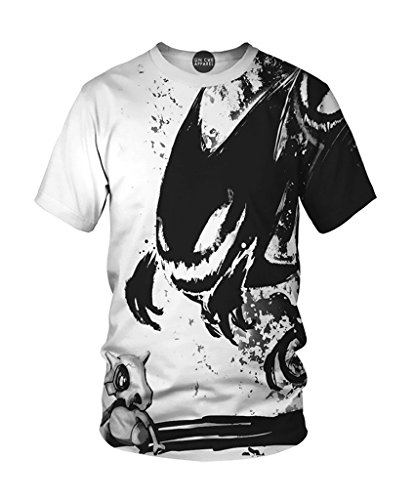 On Cue Apparel Cubone T-Shirt - All Over Print Graphic Rave Shirts - Medium