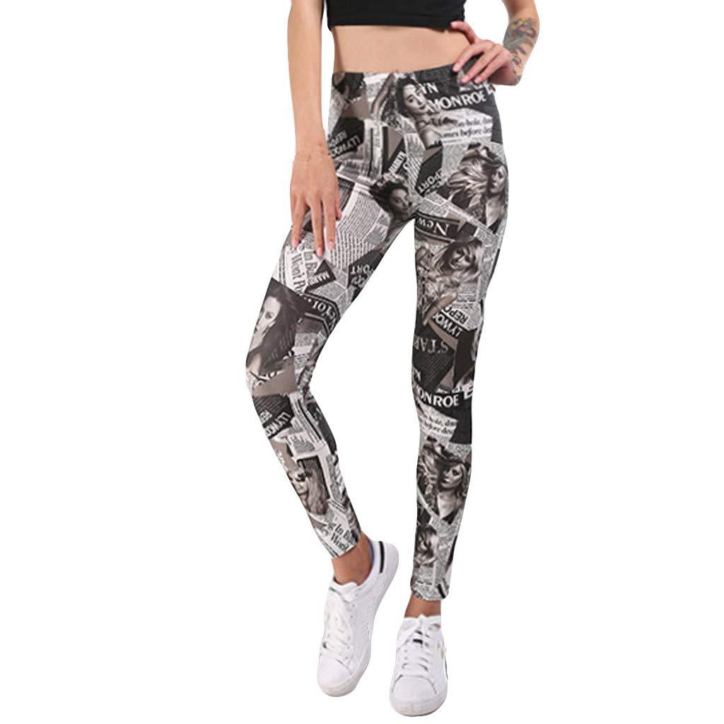 Yogahosen Trainingsanzug Laufbekleidung Gym Fitness Kleidung Sternen Damen Kurz Sport Leggins, Shorts Hohe Taille Tights mit Taschen Digital Printed Bottom Hosen Hip-up Yoga