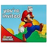 Super Mario Bros Party Supplies - Invitations (8)