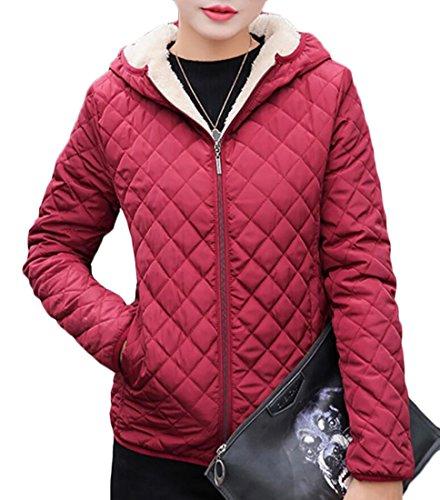 Fleece Zip 6 Front Fit Slim Hooded Lightweight Coat Jacket Womens EKU Lined qw1BXY1