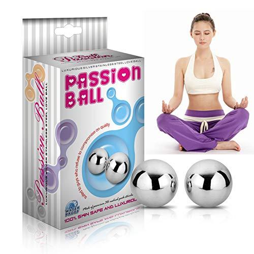 Kegel Vagina Trainer Ben Wa Balls Vaginal Passion Dual Solid Steel Jiggle Balls Advanced Sex Toy for Women