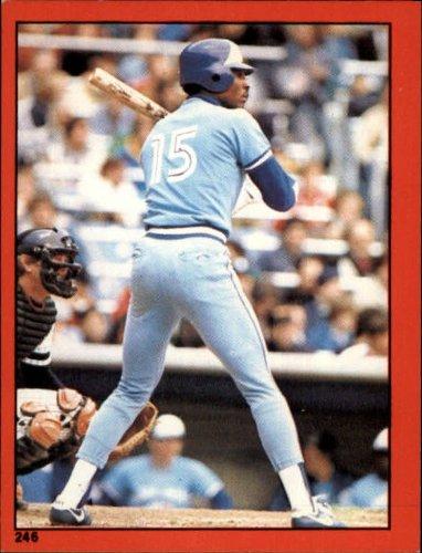 1982 Topps Baseball Sticker #246 Lloyd Moseby Mint - Topps 1982 Baseball Sticker