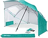 Sport-Brella Portable All-Weather & Sun Umbrella, 8-foot Canopy, Turquoise